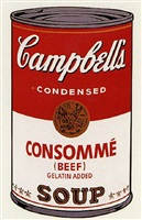 campbells soup i: consomme [ii.52] by andy warhol